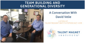 "David Velie and Mike Sipple, Jr during the recording of the ""Team Building and Generational Diversity"" podcast."